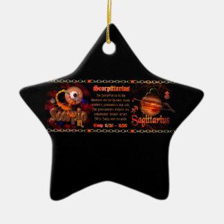 Cambio de signo del zodiaco del sagitario del esco ornamentos de navidad