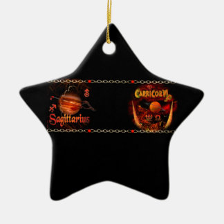 Cambio de signo del zodiaco del sagitario del esco adorno de navidad