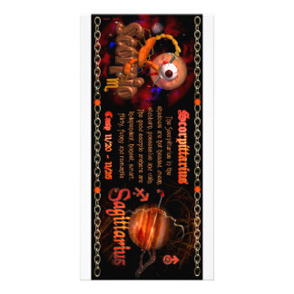 Cambio de signo del zodiaco del sagitario del esco tarjetas fotográficas personalizadas