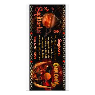 Cambio de signo del zodiaco del sagitario del esco plantilla para tarjeta de foto