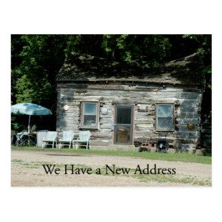 Cambio de tarjeta de la dirección: Cabaña de Postales