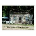 Cambio de tarjeta de la dirección: Cabaña de Tarjetas Postales