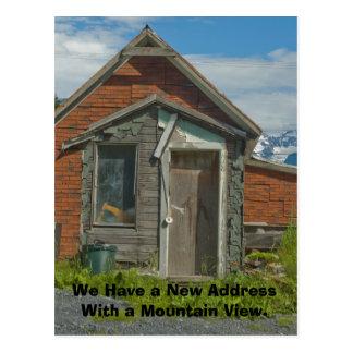 Cambio de tarjeta de la dirección: Mountain View Tarjeta Postal
