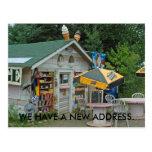 Cambio de tarjeta de la dirección: Tienda de Postales