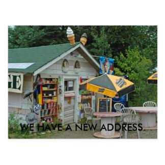 Cambio de tarjeta de la dirección: Tienda de Postal