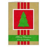 Cambio de tarjeta de Navidad de la dirección