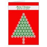 Cambio de tarjeta de Navidad de la dirección, árbo