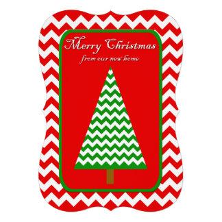 """Cambio de tarjeta plana Chevron del navidad de la Invitación 5"""" X 7"""""""