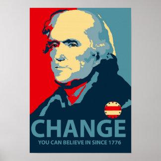 Cambio de Thomas Jefferson Póster