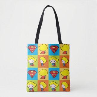 Cambio del carácter de Chibi Supergirl Bolsa De Tela