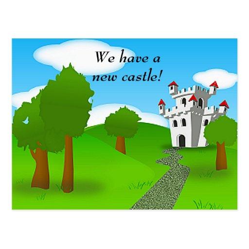 Cambio del castillo de postal de la dirección