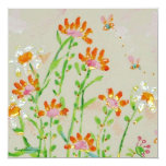 cambio del fleur de tarjeta de la dirección invitación 13,3 cm x 13,3cm