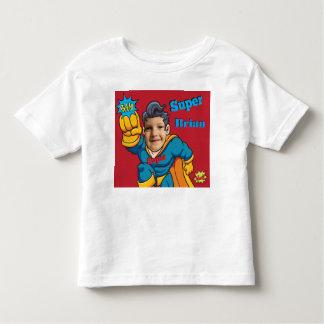 Cambio del super héroe la moda de la cara playera de bebé