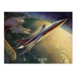Cambio del vintage de aeroplano de la ciencia ficc postales