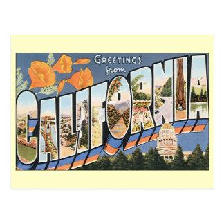 Cambio del vintage de dirección, saludos Californi Postales