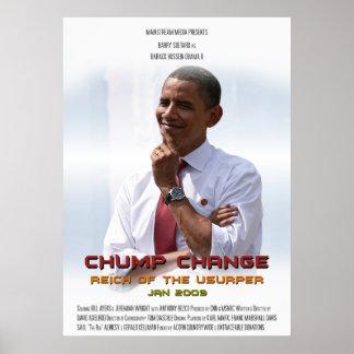 Cambio del zoquete (Obama) Póster
