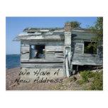 Cambio divertido de hogar de la playa de la postales