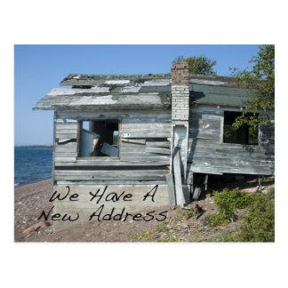 Cambio divertido de hogar de la playa de la tarjetas postales