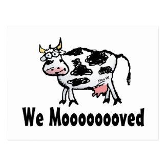 Cambio divertido de la vaca de postal de la direcc