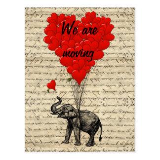 Cambio divertido del elefante de tarjeta de la postal