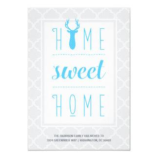 Cambio dulce casero del hogar el | de dirección invitación 12,7 x 17,8 cm