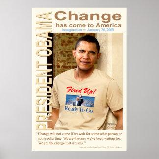 ¡Cambio - encendido para arriba! Poster grande