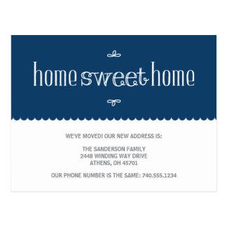 Cambio lindo de invitación de la dirección tarjetas postales