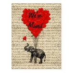 Cambio lindo del elefante de tarjeta de la direcci tarjetas postales