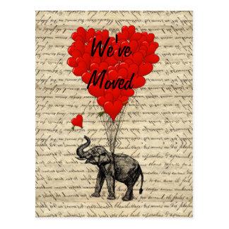 Cambio lindo del elefante de tarjeta de la direcci tarjeta postal