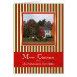 Cambio móvil de tarjeta de Navidad de la foto de l