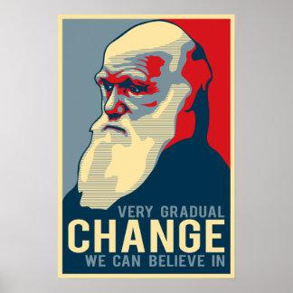 Cambio muy gradual que podemos creer adentro posters
