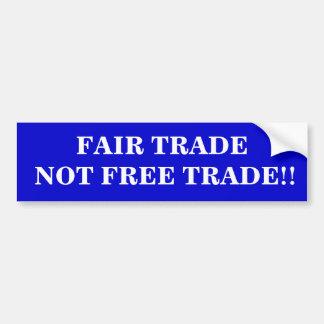 Cambio no libre justo del comercio pegatina para auto