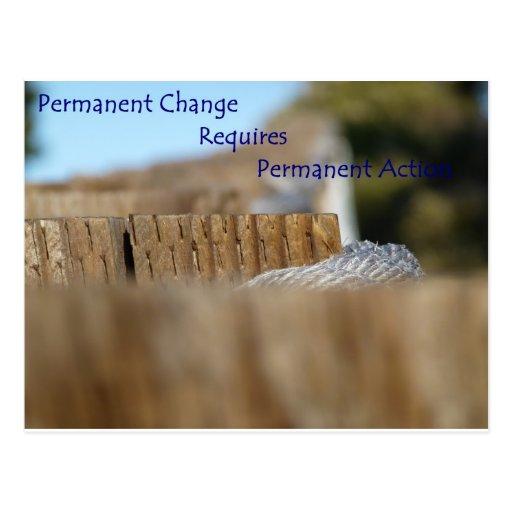 Cambio permanente tarjetas postales
