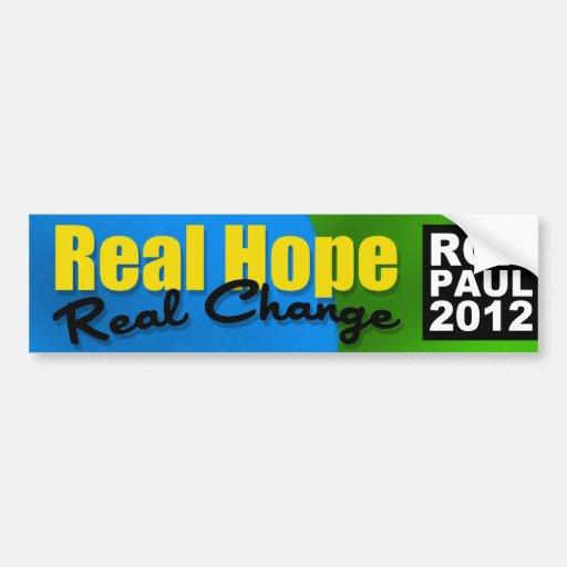 Cambio real de la esperanza real pegatina de parachoque