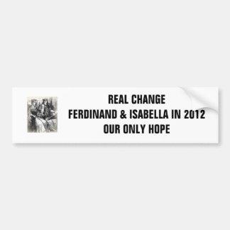 Cambio real: Fernando y Isabel en 2012 Pegatina Para Auto