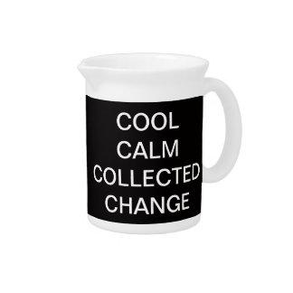 Cambio recogido calma fresca jarras