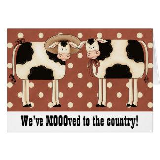 Cambio remilgado de las vacas de hogar rural del p tarjetas