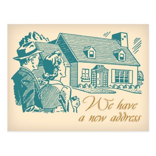 Cambio retro de postal de la dirección
