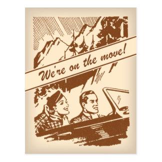 Cambio retro del vintage de postal de la dirección