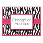 Cambio rosado del estampado de zebra de postales d