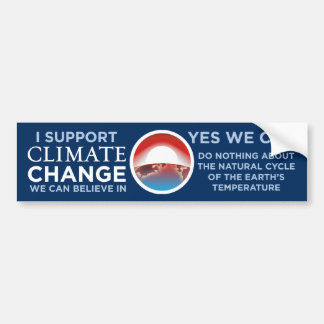 Cambio-Sí del clima podemos chiste BumperSticker d Pegatina De Parachoque