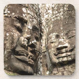 Cambodia, Angkor Wat. Angkor Thom, Bayon Drink Coaster