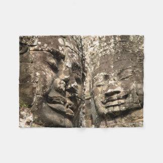 Cambodia, Angkor Wat. Angkor Thom, Bayon Fleece Blanket