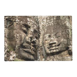 Cambodia, Angkor Wat. Angkor Thom, Bayon Laminated Placemat