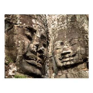Cambodia, Angkor Wat. Angkor Thom, Bayon Postcard
