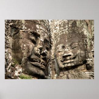 Cambodia, Angkor Wat. Angkor Thom, Bayon Poster