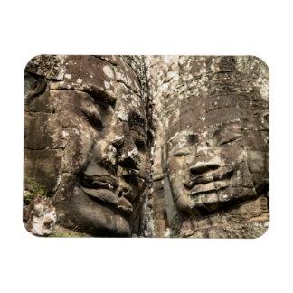 Cambodia, Angkor Wat. Angkor Thom, Bayon Rectangular Photo Magnet