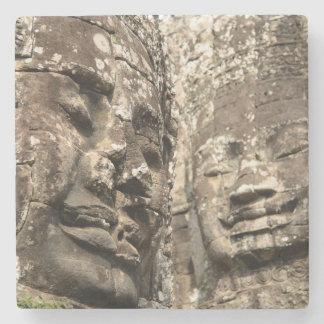 Cambodia, Angkor Wat. Angkor Thom, Bayon Stone Coaster