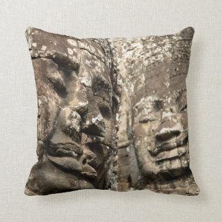 Cambodia, Angkor Wat. Angkor Thom, Bayon Throw Pillow