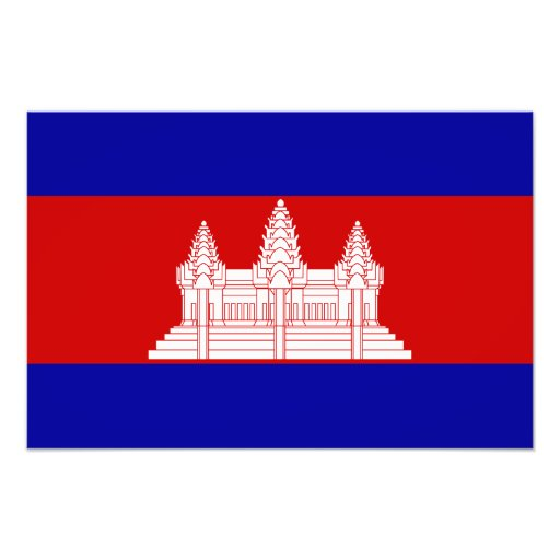 Cambodia – Cambodian Flag Art Photo
